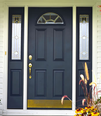Exterior Front Doors on Entry Door With Sidelites Front Entry Door With Decorative Glass Door