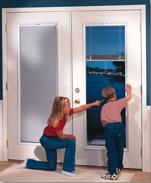 pics photos french patio doors with built in blinds
